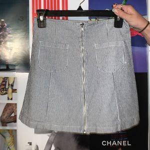 Brandy Melville Pinstripe Mini Skirt